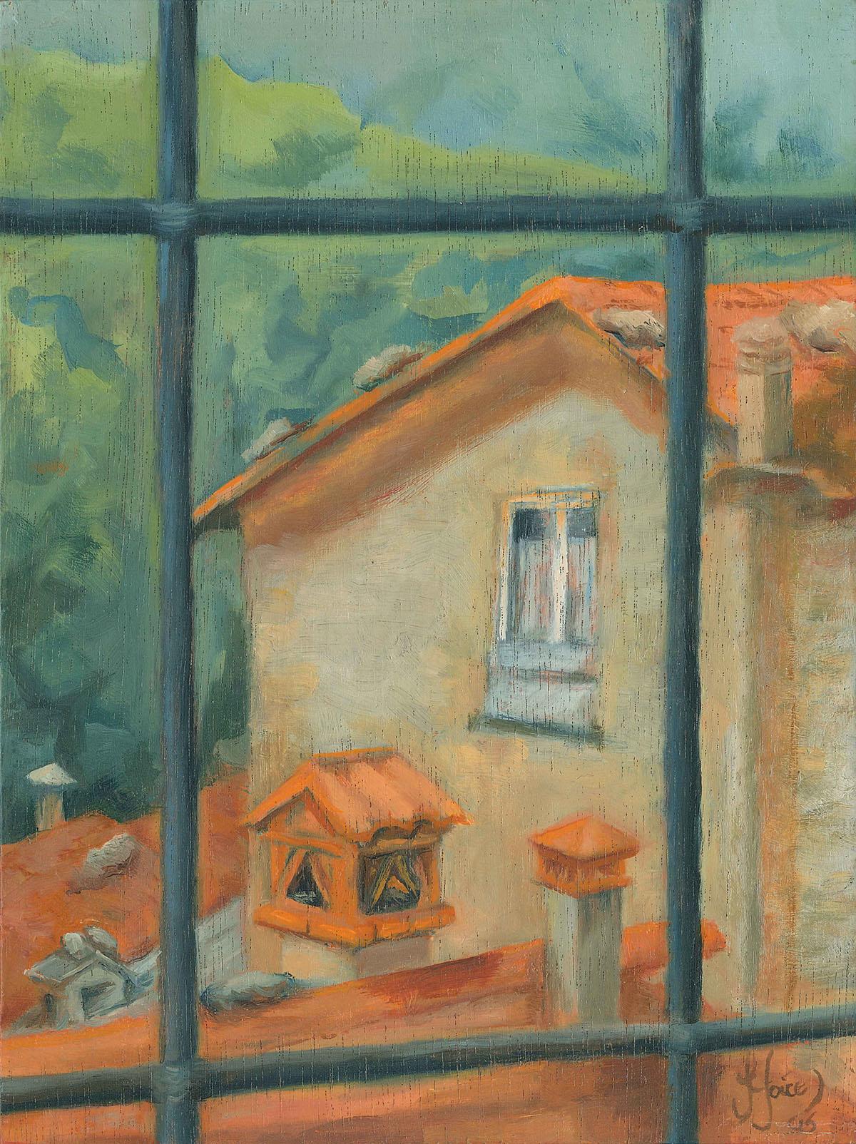 Five Chimneys, Stazzema - Oil on wood - 20 x 15 cm