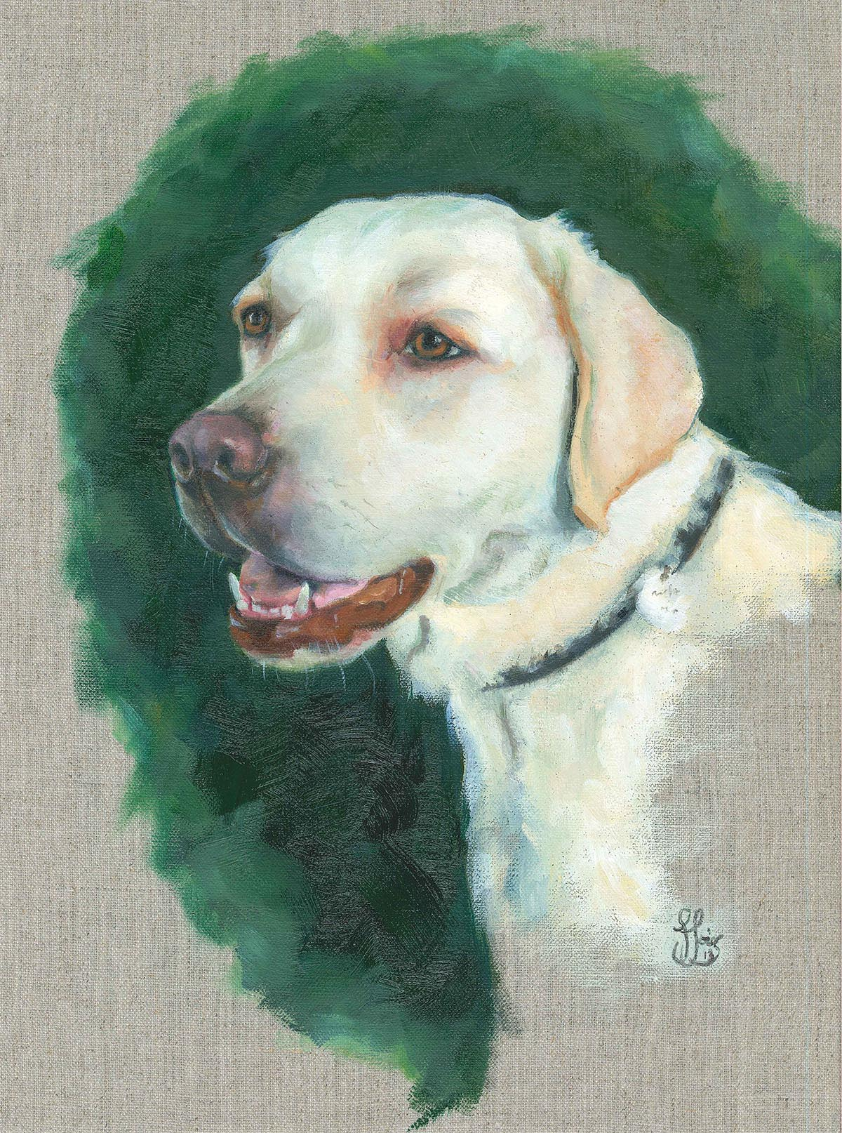 Carrie the Lab - Oil on canvas - commission.